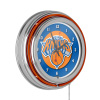 New York Knicks NBA Chrome Double Ring Neon Clock