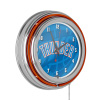 NBA Chrome Double Rung Neon Clock - Fade - Oklahoma City Thunder