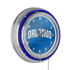NBA Chrome Double Rung Neon Clock - Fade - Orlando Magic
