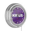 NBA Chrome Double Rung Neon Clock - Fade - Sacramento Kings