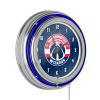 NBA Chrome Double Rung Neon Clock - City - Washington Wizards