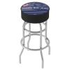 NHL Chrome Bar Stool with Swivel - Watermark - Columbus Blue Jackets�