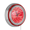 NHL Chrome Double Rung Neon Clock - Watermark - Detroit Redwings?