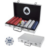 Card Suits Poker Chip Set- 300 Pieces of 11.5-gram Composite Gambling Chips-Aluminum Case, 2 Decks of Cards, Dealer & Blind Buttons by Trademark Poker