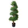 Artificial Boxwood Topiary Tree- 48-Inch Potted Spiral Garden Bush? Natural Looking Plant for Indoor and Outdoor Use by Earth Worth