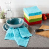 16-Piece Kitchen Dish Cloth Set- Woven Circle Pattern Wash Cloths in 4 Colors- 100% Cotton Dishcloths for Cleaning by Weymouth Home