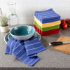 16-Piece Kitchen Dish Cloth Set- Striped Chevron Weave Wash Cloths- 100% Cotton Dishcloths for Cleaning by Weymouth Home
