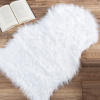 Sheepskin Throw Rug ? Faux Fur 2x3-Foot High Pile Soft and Plush Mat for Bedroom, Kitchen, Bathroom, Nursery & Office by Lavish Home (White)