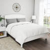 Full / Queen Comforter, White Goose Down Alternative Comforter, Hypo-Allergenic, Quilted Box Stitched, All Season Bed Comforter by Lavish Home