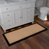 Oversized Bathroom Rug- Memory Foam Bath Mat in Black & Tan- Extra Long Non- Slip Absorbent Runner for Shower, Tub, Sink, or Kitchen by Lavish Home
