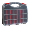 Hardware and Craft Storage Case - 23 Compartments to Organize Parts in the Garage, Classroom and Home ? Carry Handle and Clear Lid by Ryland Supply