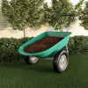 Dual Wheel Wheelbarrow-Heavy Duty 5 Cubic Foot Garden Cart?300lbs Capacity Utility Cart for Residential Lawn Care-Two 15-Inch Tires by Earth Worth