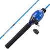Youth Fishing Rod & Reel Combo-4?2? Fiberglass Pole, Spincast Reel & 8-Piece Tackle Kit for Kids & Beginners-Shallow Series by Wakeman Outdoors (Blue)