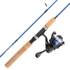 Youth Fishing Rod & Reel Combo-5?2? Fiberglass Pole, Spinning Reel, Cork Handle & Tackle Kit for Beginners-Kettle Series by Wakeman Outdoors (Blue)