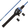Youth Fishing Rod & Reel Combo- 5?6? Fiberglass Pole, Spincast for Beginners- Pre-Spooled with 10lb Test Line -Inlet Series by Wakeman Outdoors (Blue)