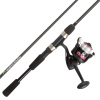 Fishing Rod & Reel Combo -6?6? Fiberglass Pole, Spinning Reel- Bass, Trout & Lake Fish-Spooled with 10lb Test-Action Series by Wakeman Outdoors (Pink)