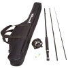 Fishing Rod Combo Kit, Fishing Line and Carrying Case, Spinning Reel, Fly Fishing, Gear Great for All Ages, Black ? Charter Series by Wakeman