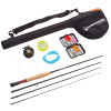 Fly Fishing Starter Set- 8? Fiberglass Rod, Aluminum Reel, Travel Bag, 12 Dry Flies & Box, 20lb Backing Line & More-Stream Series by Wakeman Outdoors