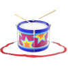 Children?s Toy Snare Marching Drum, Double-Sided with Adjustable Neck Strap and Two Wood Drum Sticks- Music Fun for Kids, Toddlers by Hey! Play!