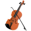 Kid?s Toy Violin with 4 Adjustable Strings and Bow - Musical Sounds- Realistic-Looking Instrument for Learning Classical Music by Hey! Play!
