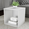 End Table ? Stackable Contemporary Minimalist Modular Cube Accent Table or Shadowbox for Bedroom, Living Room or Office by Lavish Home (White)