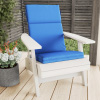 High-Back Patio Chair Cushion? For Outdoor Furniture, Adirondack, Rocking or Dining Chairs?Blue Mildew & UV Resistant Fabric with Piping & Ties by LHC