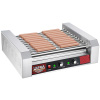 30 Hot Dog Roller Machine- 11 Rollers, Hotdog or Sausage Grill -Electric Countertop Cooker, Drip Tray & Dual Zones by Great Northern Popcorn