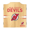 NHL Dart Cabinet Set with Darts and Board - New Jersey Devils