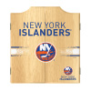 NHL Dart Cabinet Set with Darts and Board - New York Islanders
