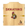 NHL Dart Cabinet Set with Darts and Board - Ottawa Senators