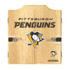 NHL Dart Cabinet Set with Darts and Board - Pittsburgh Penguins