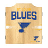 NHL Dart Cabinet Set with Darts and Board - St. Louis Blues
