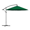 Patio Umbrella, Cantilever Hanging Outdoor Shade- Easy Crank and Base for Table, Deck, Porch, Backyard, Pool- 10 Ft by Pure Garden (Hunter Green)