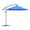 Patio Umbrella, Cantilever Hanging Outdoor Shade- Easy Crank and Base for Table, Deck, Porch, Backyard, Pool- 10 Ft by Pure Garden (Brilliant Blue)