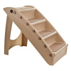 Pet Stairs ? Safe and Durable Indoor or Outdoor Ramp with 4 Step Design ? Cat or Dog Steps for Home and Vehicle by PETMAKER (Tan)
