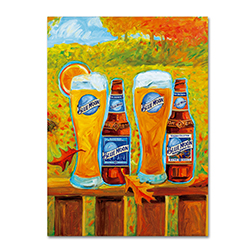 Blue Moon 'Harvest' Canvas Art