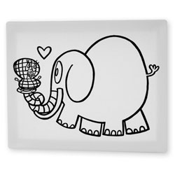 Ella the Elephant 8x10 Coloring Canvas -  Ready to Hang!