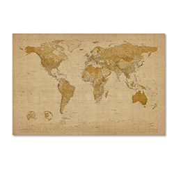 Michael Tompsett 'Antique World Map' Canvas Art