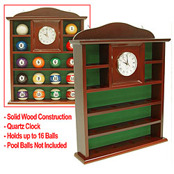 Ball Holder Quartz Clock with Solid Wood