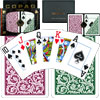 Copag Poker Size JUMBO Index - Green/Burgundy Setup