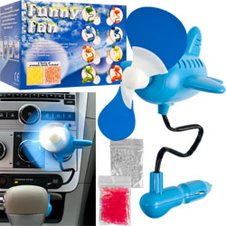 12 volt Auto Air Freshening Scent Fan - Airplane Shaped
