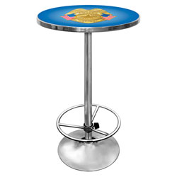 Police Officer Chrome Pub Table