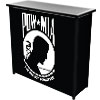 POW Metal 2 Shelf Portable Bar Table w/ Carrying Case