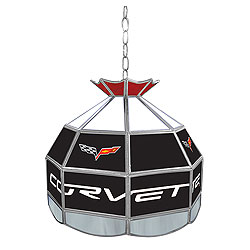Corvette C6 Stained Glass Billiard Lamp - 16 Inch Diameter