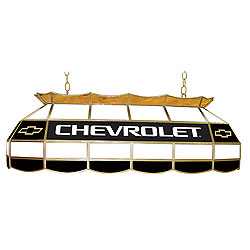 Chevy Bow Tie Stained Glass 40 inch Lighting Fixture