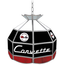 Corvette C1 Stained Glass Billiard Lamp - 16 Inch Diameter