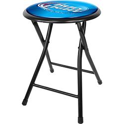 Bud Light 18 Inch Cushioned Folding Stool - Black