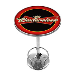Budweiser Bowtie Red / Black Pub Table