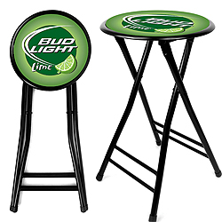Bud Light Lime 24 Inch Cushioned Folding Stool B.O.G.O.