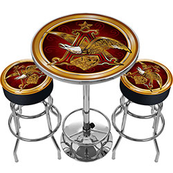 Ultimate A & Eagle Gameroom Combo - 2 Bar Stools and Table
